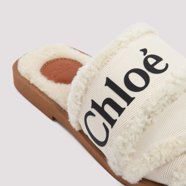Chloé Shearling Woody Slippers