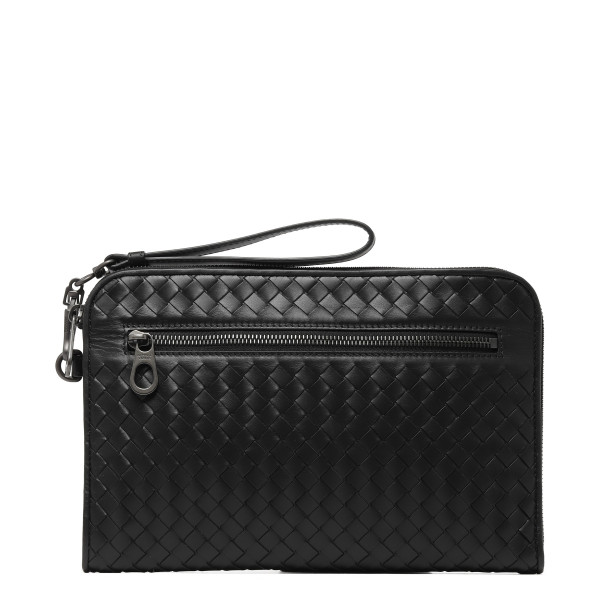 Black Intrecciato Document case