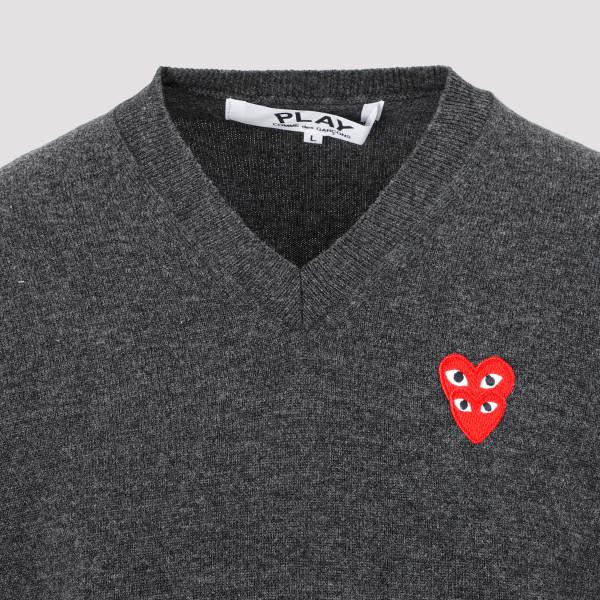 Comme Des Garçons Play V-neck Pullover