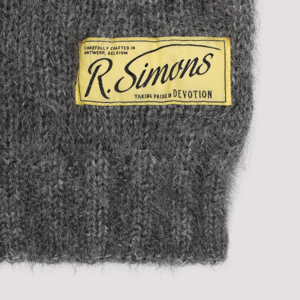 Raf Simons Knit Scarf With Woven Label