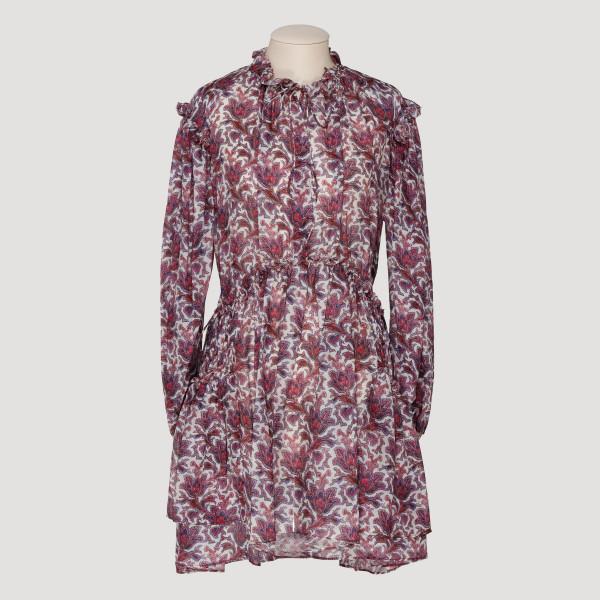 Red Paisley Nydia short dress
