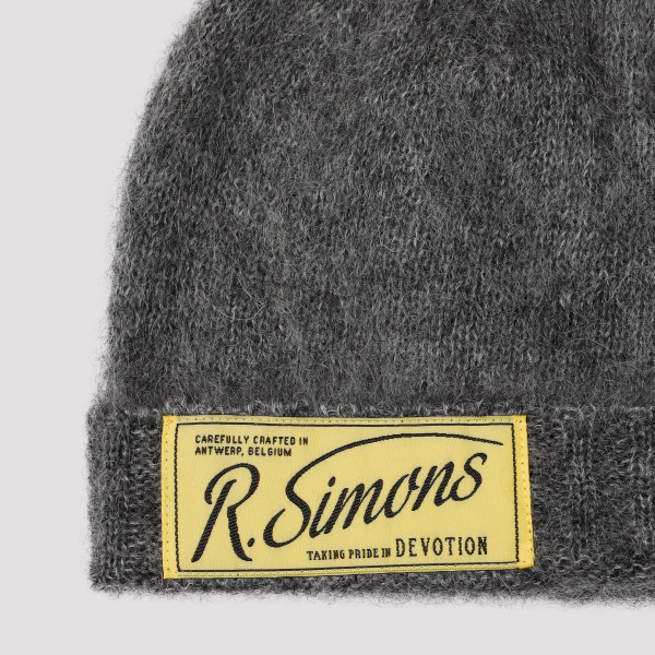 Raf Simons Knit Beanie With Woven Label