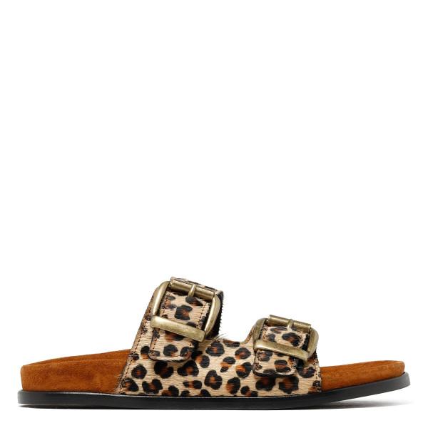 Vail fussbett leopard slide sandals
