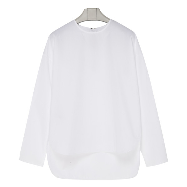 White oversized boxy top