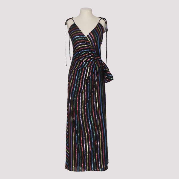 Multicolor striped lurex...