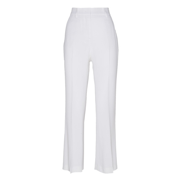 White straight leg pants