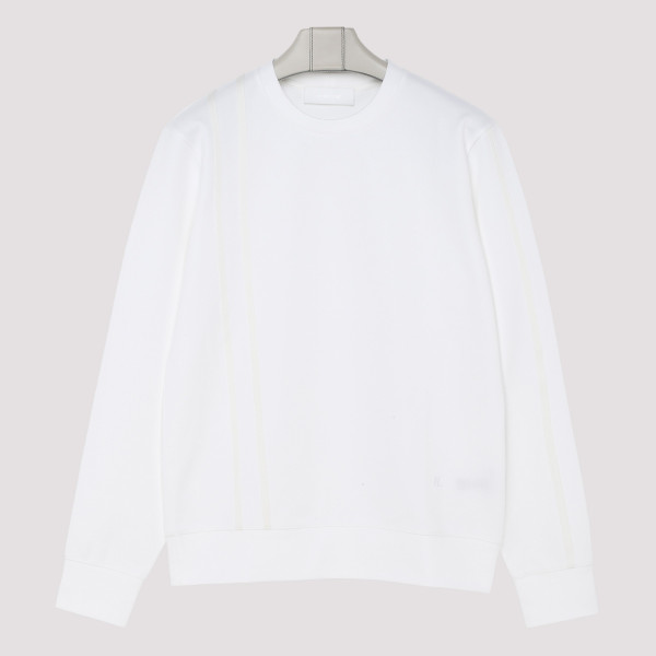 White and beige sweatshirt