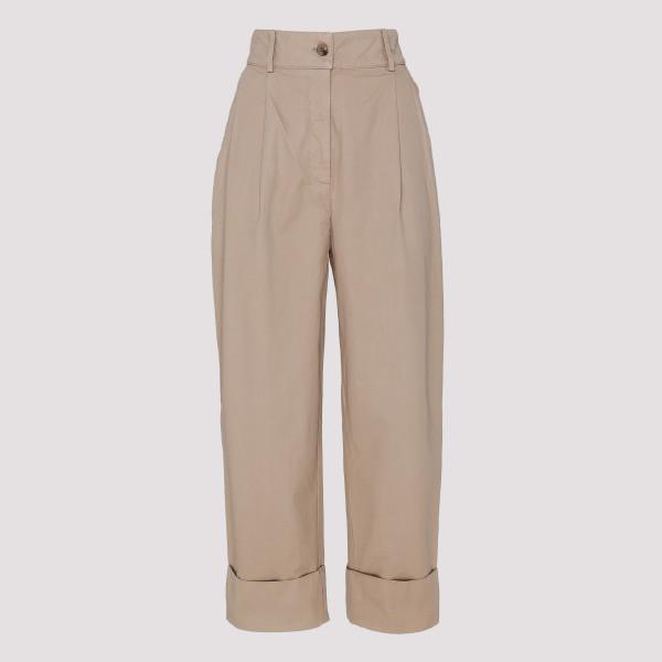 Sand beige Cuffed pants