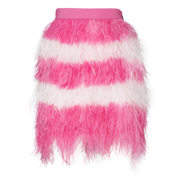 Two tone feathered skirt