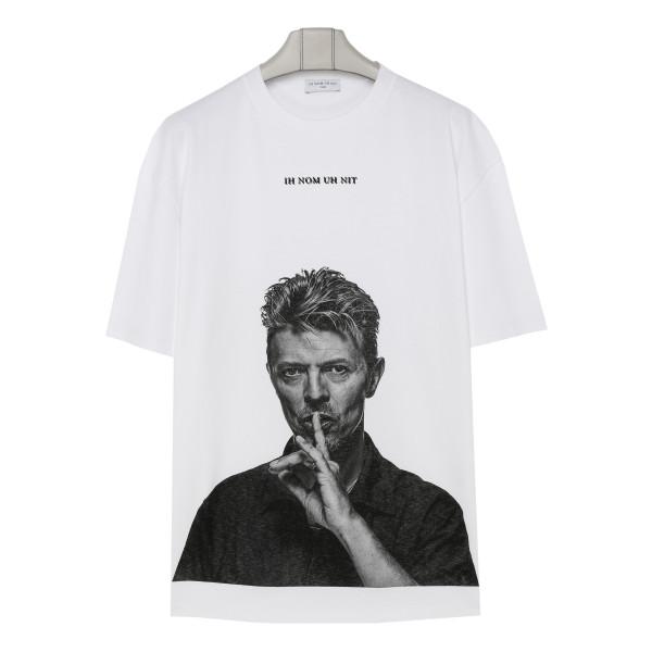 Bowie print cotton oversize T-shirt