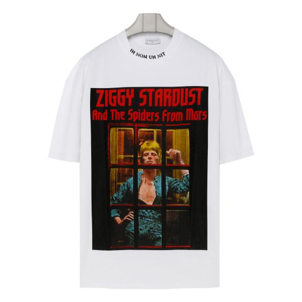 White Ziggy Stardust printed T-shirt
