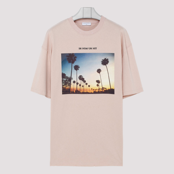 Pink T-shirt with Sunset print
