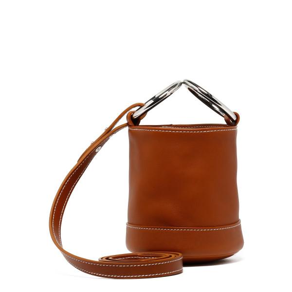 Bonsai tan leather small bucket bag