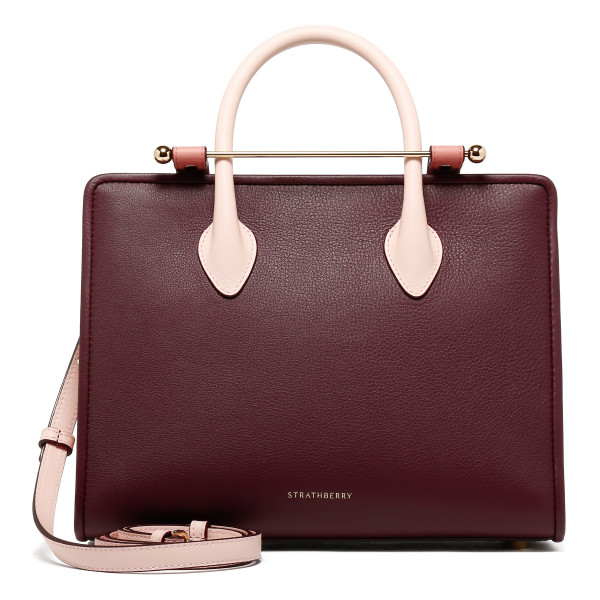 Pink, rose and burgundy midi tote