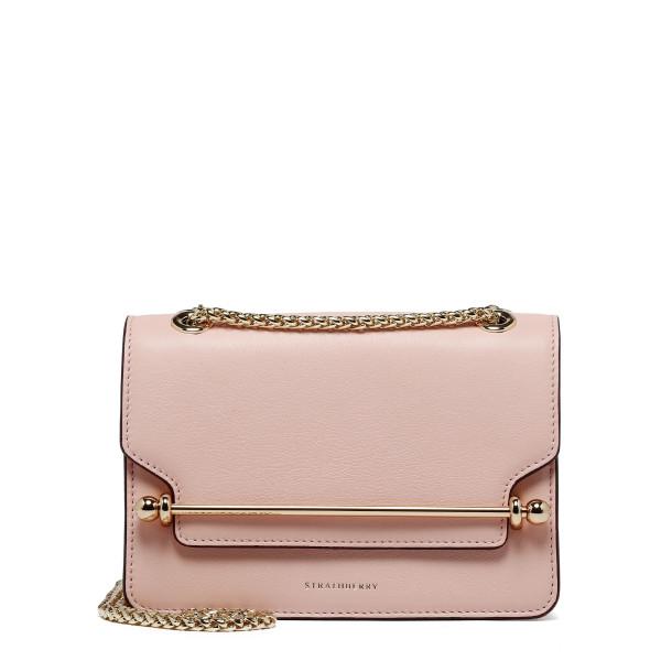 East/West soft pink mini crossbody bag