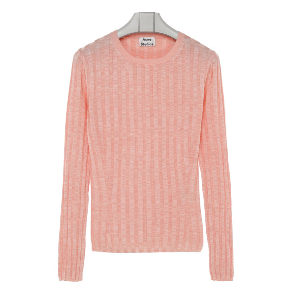 Peach pink viscose top