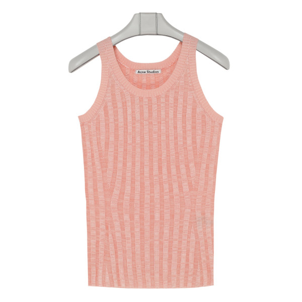 Peach pink viscose tank top