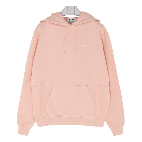 Pale pink cotton hoodie