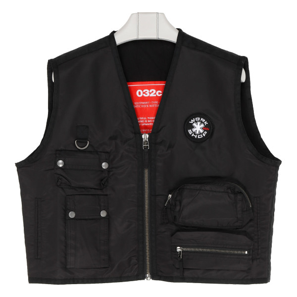 Black Cosmic Workshop Logo Vest