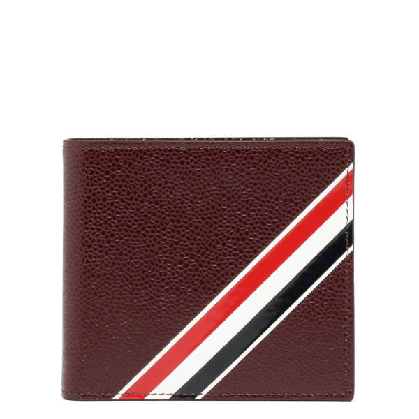 Burgundy Stripe Bifold Wallet