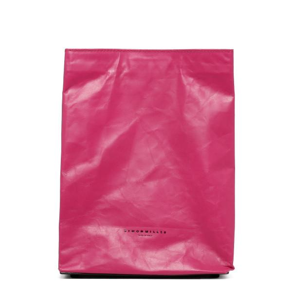 Fuchsia small 'lunch bag' clutch