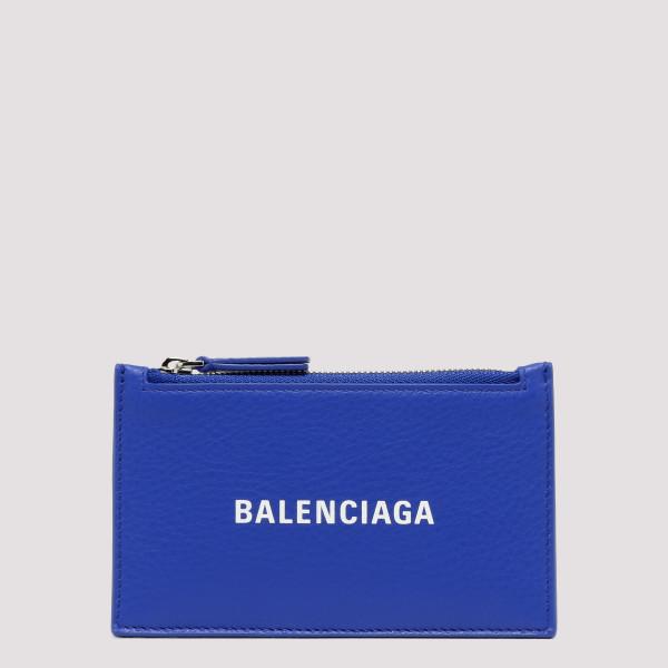 Blue leather card holder...