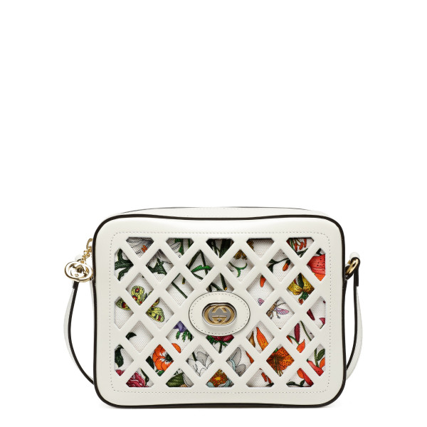 ba5f99fa5b9b White cut-out leather small shoulder bag. GUCCI