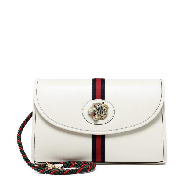 Rajah white medium shoulder bag