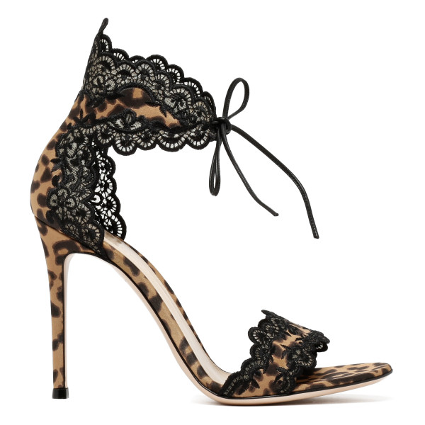 Evie animalier and lace sandals