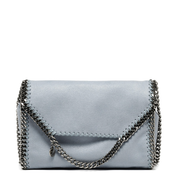 Falabella fold-over dusty blue medium bag