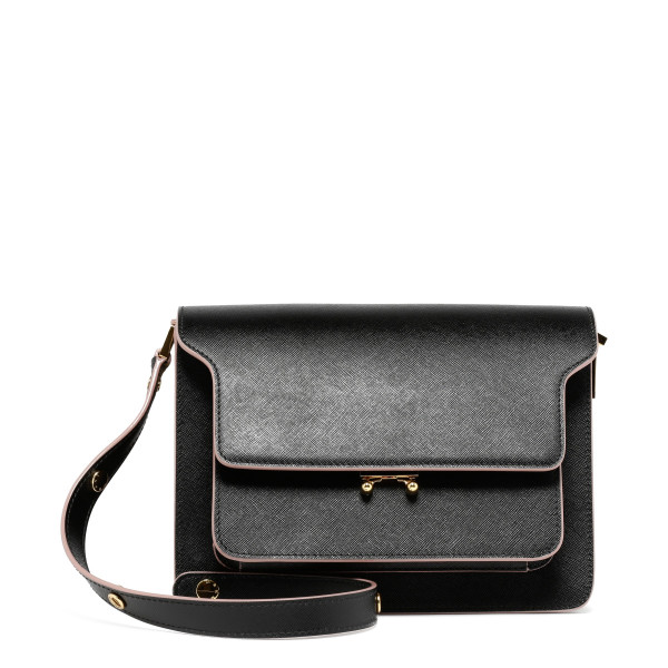 Trunk black bag with contrasting edges