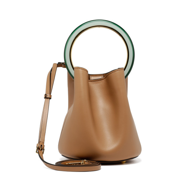 Pannier beige leather bucket bag