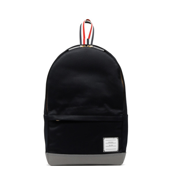 Black unstructured backpack