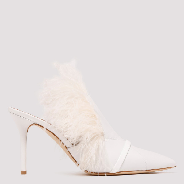 White Magda leather and...