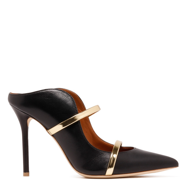 Maureen black and gold mules