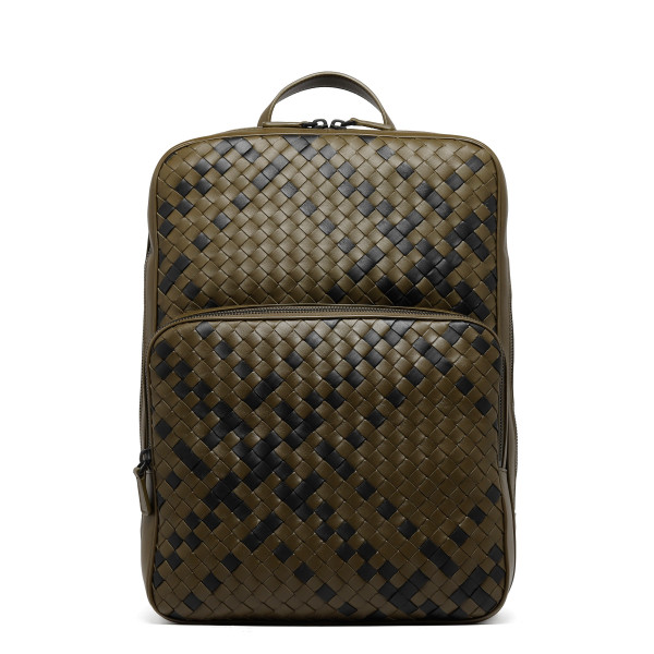 Double Brick backpack in intrecciato nappa