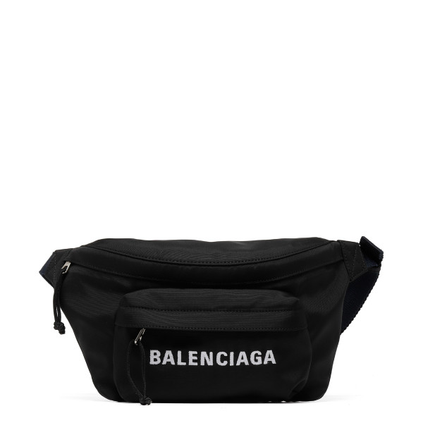 Black Explorer belt bag with logo