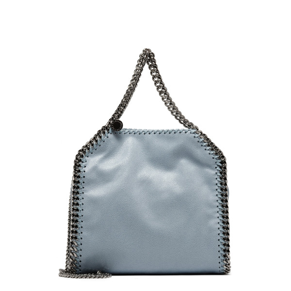 Falabella mini bag in dusty blue shaggy deer