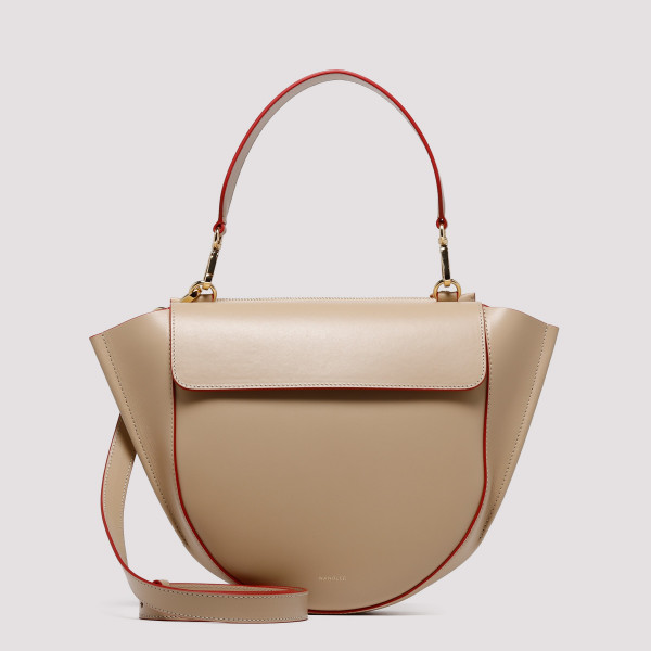 Beige Hortensia Medium Shoulder Bag