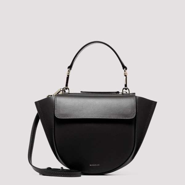 Black Hortensia Mini Shoulder Bag