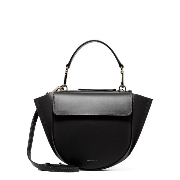 Black Hortensia Mini Shoulder Bag