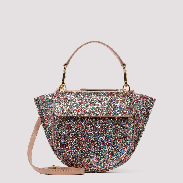 Glittered Hortensia Mini Shoulder Bag