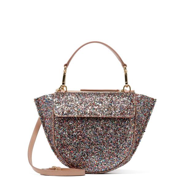 Glittered Hortensia Mini Shoulder Bag