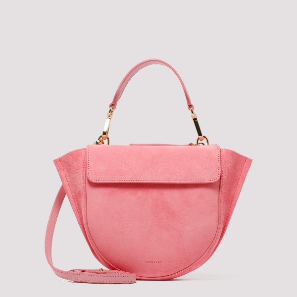 Pink suede and leather Hortensia Mini Shoulder Bag
