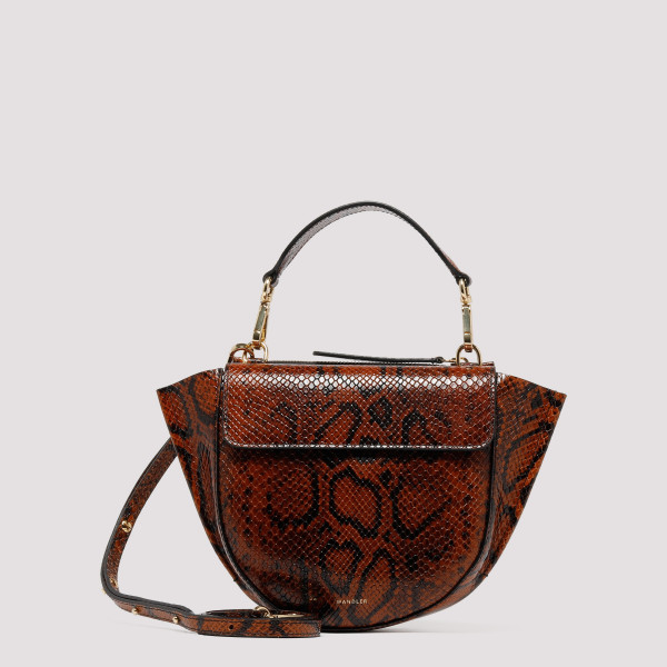Python Tan leather Hortensia Mini Shoulder Bag