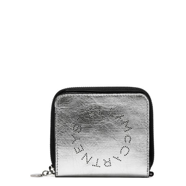 Silver Circle logo zipped wallet