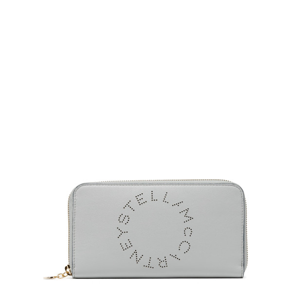 Light Blue Stella Logo Zip Around Wallet