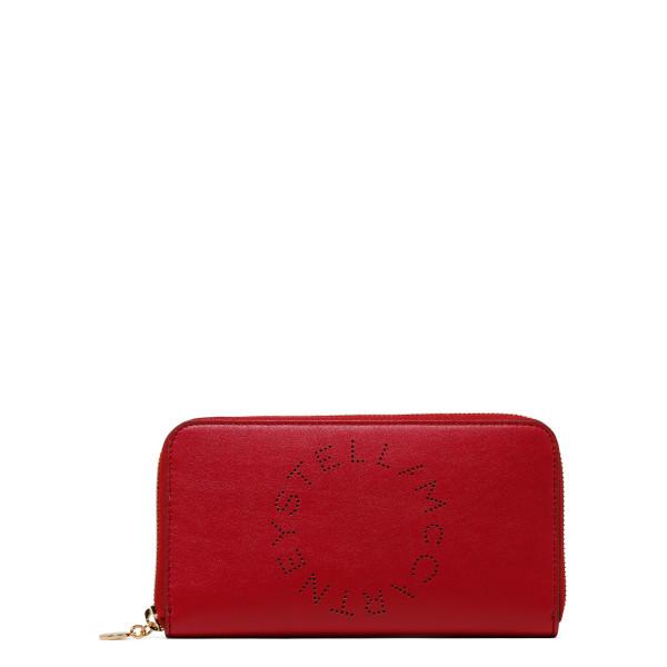 Red Stella Logo Zip Around Wallet