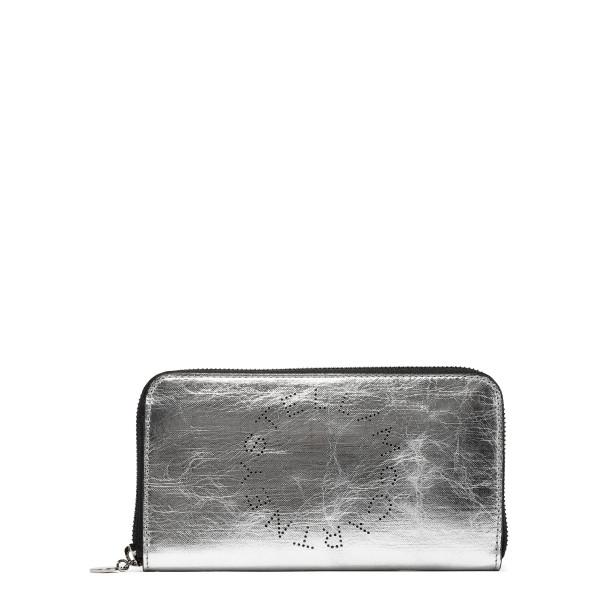 Silver Stella Logo Zip Around Wallet