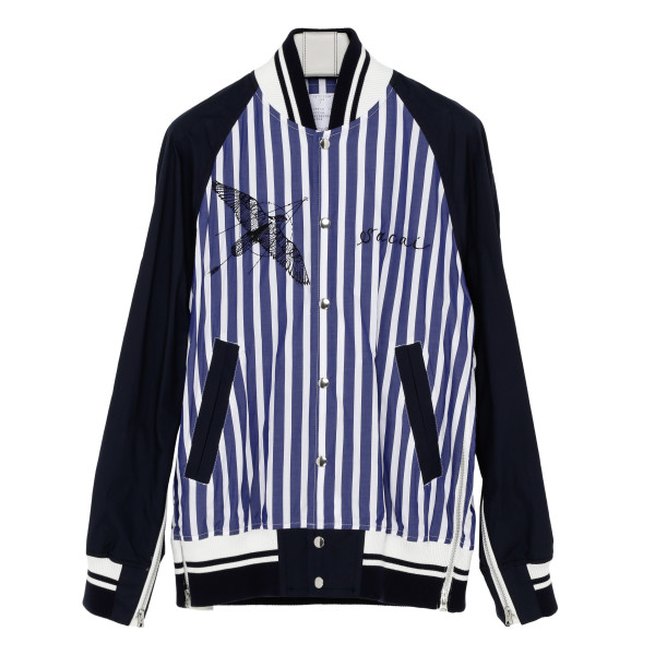 Dr. Woo Shirting Striped Bomber Jacket
